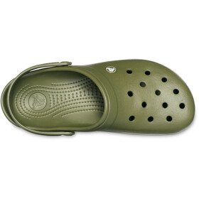 Crocs Crocband Clogsit, army green/white
